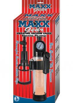 Maxx Gear Vibrating Vacuum Gauge Penis Pump Clear