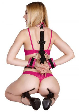 Scarlet Behind The Back Strap-on Bondage Set