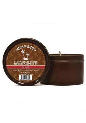 Round Massage Candle Ho Ho Ho 6oz