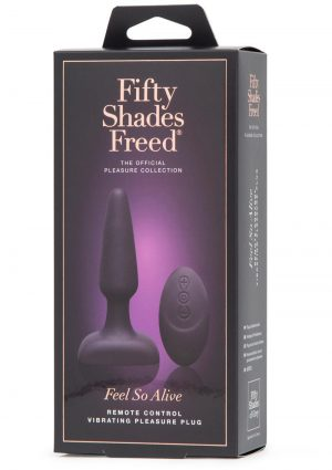 Fifty Shades Freed Feel So Alive USB Rechargeable Vibrating Pleasure Plug Waterproof Black