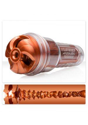 Fleshlight Turbo Thrust Textured Masturbator Copper 9.75 Inch