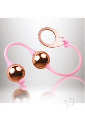 Golden Balls Weighted Kegal Balls Pink And Gold