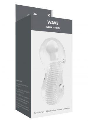 Linx Wave Sucker Stroker Waterproof Clear