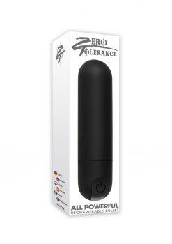 All Powerful USB Rechargeable Bullet Waterproof Black