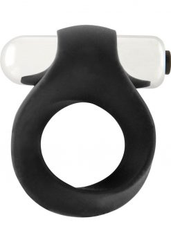 Shots Silicone Infinity Vibrating Cock Ring Waterproof Black
