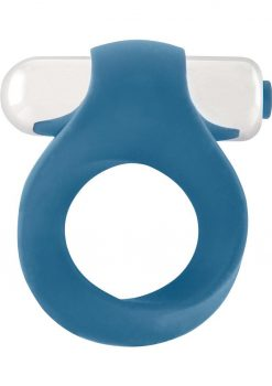Shots Silicone Infinity Vibrating Cock Ring Waterproof Blue