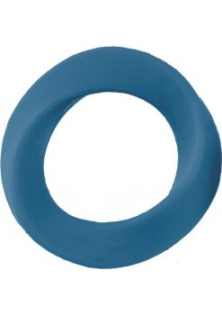 Shots Silicone Infinity Cock Ring Waterproof Blue Large