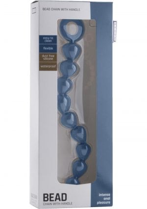 Shots Silicone Chain Of Anal Beads Waterproof Blue 11 Inch