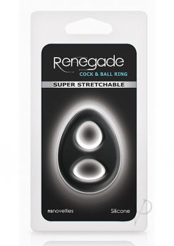 Renegade Romeo Soft Silicone Cock And Ball Ring Black