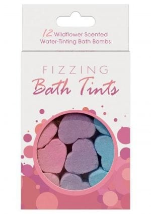Fizzing Bath Tints 12 Wildflower Scented Water Tinting Bath Bombs