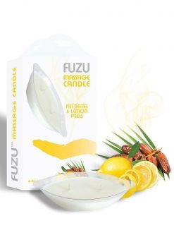 Fuzu Massage Candle Fiji Dates Lemon Passion 4 Ounce