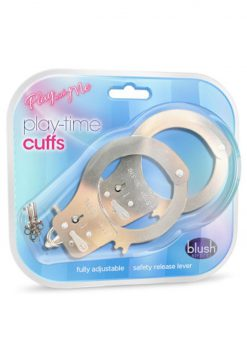 Play With Me Play Time Cuffs Adjustable Silver