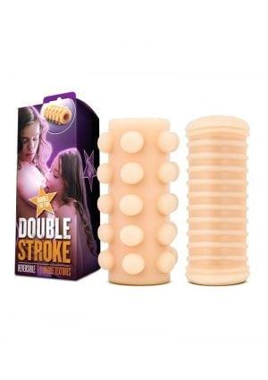 X5 Men Double Stroke Reversible Stroker Beige 5 Inch