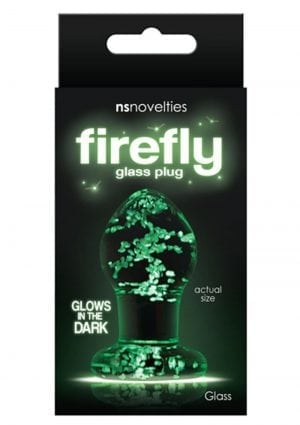 Firefly Glass Glow In The Dark Plug Small Clear 2.5 Inch