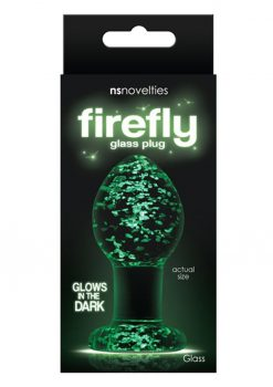 Firefly Glass Plug Medium Clear
