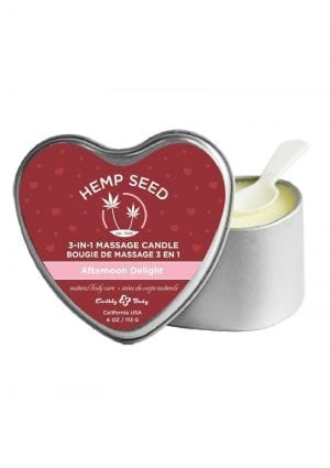 Hemp Seed Heart 3 In 1 Massage Candle Afternoon Delight