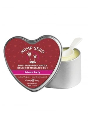 Hemp Seed Heart 3 In 1 Massage Candle Private Party