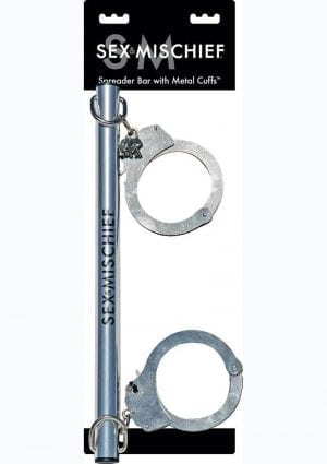 Sex And Mischief Spreader Bar With Metal Cuffs