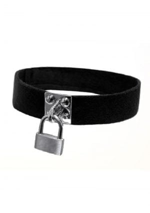 Sex and Mischief Lock And Key Collar Black
