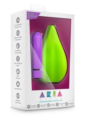 Aria Sweet Leaf Silicone Rechargeable Bullet Kit Waterproof Green