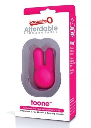 Affordable Rechargeable Toone Flexible Dual Motor Silicone Vibrator Waterproof Pink