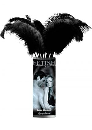 Fetish Fantasy Series Limited Edition Love Plumes Black 12 Each Per Bundle