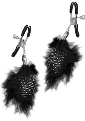 Fetish Fantasy Series Limited Edition Feather Nipple Clamps Black