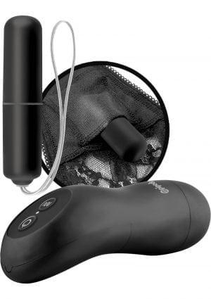 Fetish Fantasy Series Limited Edition Remote Control Vibrating Panties Plus Size Black