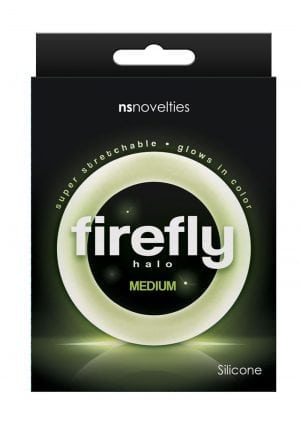 Firefly Halo Silicone Cock Ring Clear Medium